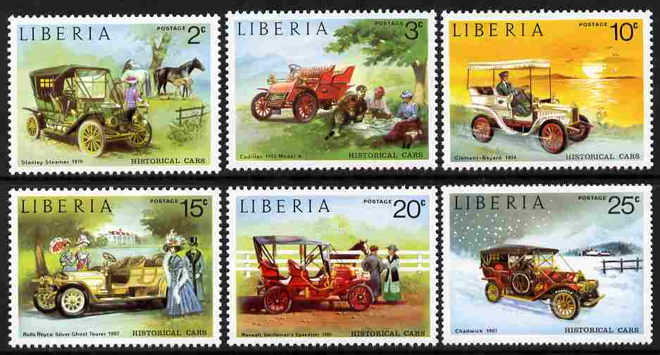 Liberia 1973 Vintage Cars set of 6 unmounted mint SG 1169-74