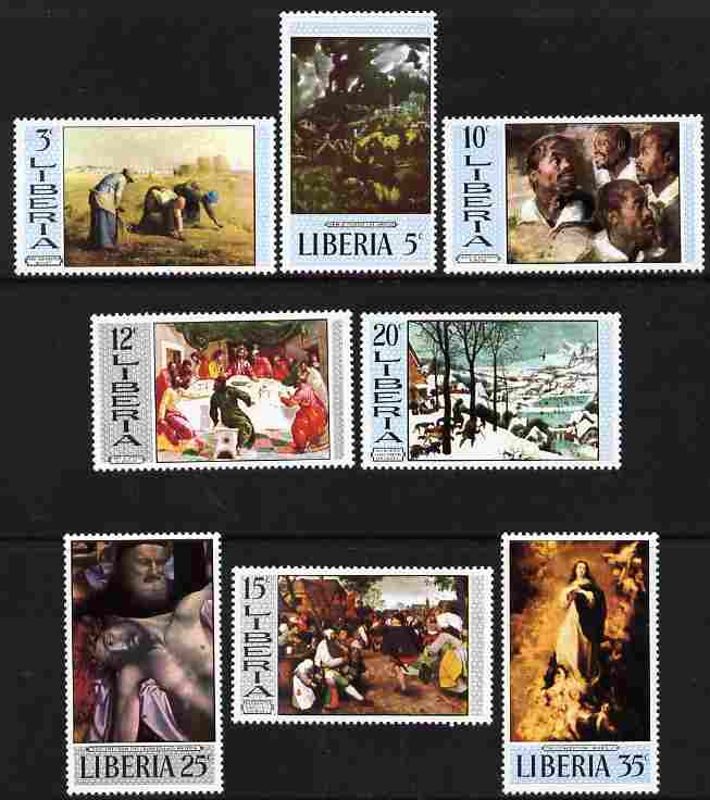 Liberia 1969 Paintings (2nd series) set of 8 unmounted mint, SG 1010-17