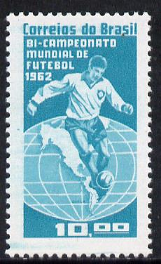 Brazil 1962 Football (Brazil's Victory) unmounted mint SG 1071*