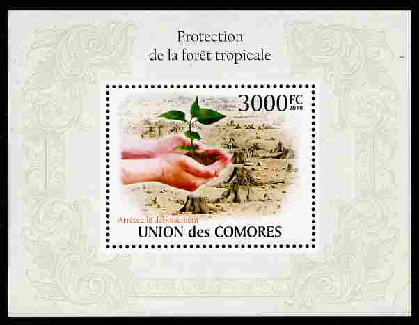 Comoro Islands 2009 Protection of Tropical Forests perf m/sheet unmounted mint, Michel BL 582