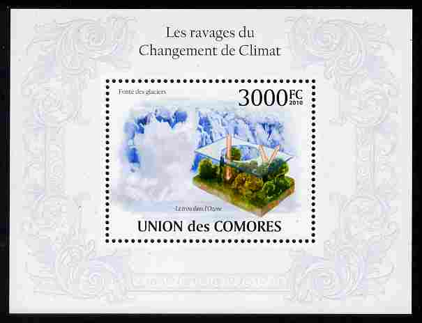 Comoro Islands 2009 Climate Change perf m/sheet unmounted mint, Michel BL 584