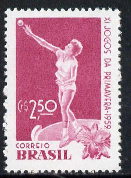 Brazil 1959 Spring Games (Shot) unmounted mint SG 1011*