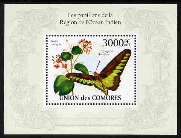 Comoro Islands 2009 Butterflies from Indian Ocean Region perf m/sheet unmounted mint, Michel BL 569