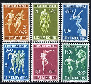 Luxembourg 1967 Mexico Olympic Games set of 6 unmounted mint, SG 815-20