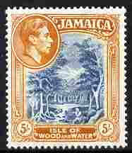 Jamaica 1938-52 KG6 Isle of Wood & Water 5s Perf 14 unmounted mint, SG 132