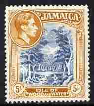 Jamaica 1938-52 KG6 Isle of Wood & Water 5s Perf 13 unmounted mint, SG 132b