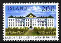 Iceland 1980 University Hospital 200k unmounted mint SG 592