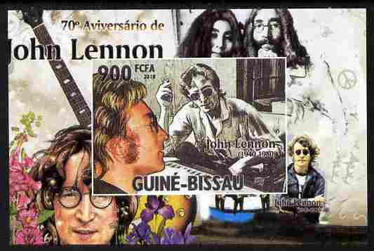 Guinea - Bissau 2010 John Lennon 70th Birth Anniversary #1 individual imperf deluxe sheet unmounted mint. Note this item is privately produced and is offered purely on its thematic appeal