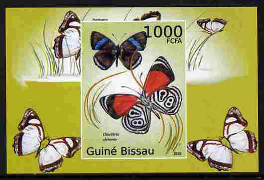 Guinea - Bissau 2010 Butterflies #01 individual imperf deluxe sheet unmounted mint. Note this item is privately produced and is offered purely on its thematic appeal