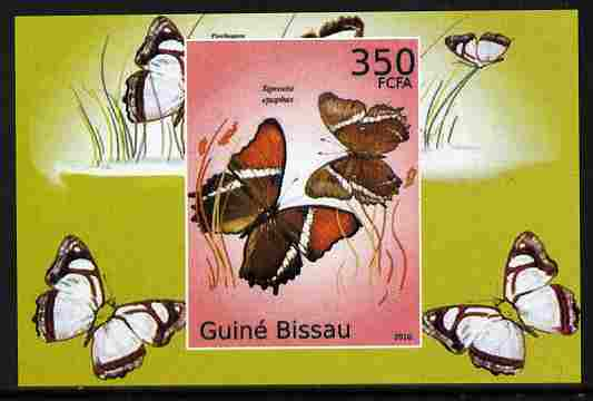 Guinea - Bissau 2010 Butterflies #02 individual imperf deluxe sheet unmounted mint. Note this item is privately produced and is offered purely on its thematic appeal