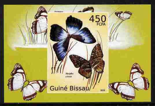 Guinea - Bissau 2010 Butterflies #06 individual imperf deluxe sheet unmounted mint. Note this item is privately produced and is offered purely on its thematic appeal