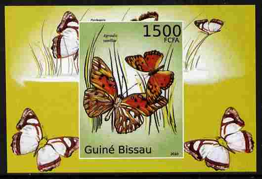 Guinea - Bissau 2010 Butterflies #07 individual imperf deluxe sheet unmounted mint. Note this item is privately produced and is offered purely on its thematic appeal