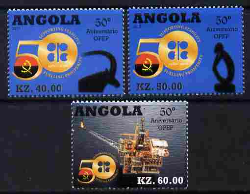 Angola 2010 50th Anniversary of OPEC perf set of 3 unmounted mint