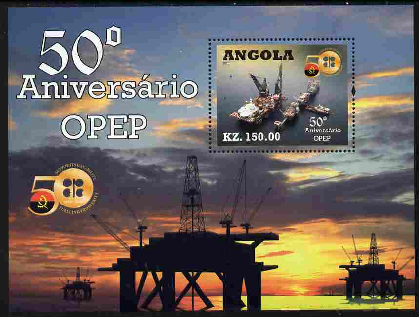 Angola 2010 50th Anniversary of OPEC perf m/sheet unmounted mint