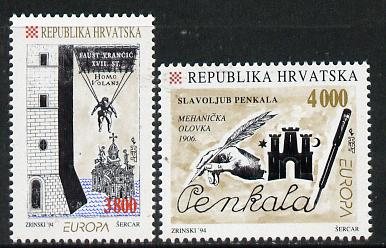 Croatia 1994 Europa - Inventions set of 2 unmounted mint SG 274-5