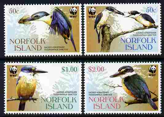 Norfolk Island 2004 WWF - Sacred Kingfisher perf set of 4 unmounted mint SG 894-7