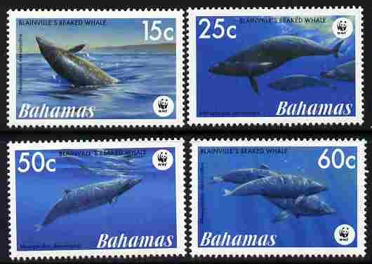 Bahamas 2007 WWF - Beaked Whale perf set of 4 unmounted mint  SG 1449-52
