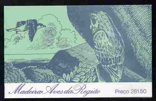 Booklet - Portugal - Madeira 1987 Birds (1st series) 281E50 booklet complete and pristine, SG SB7