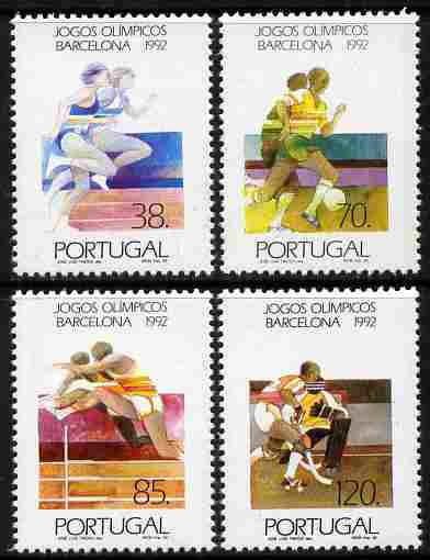 Portugal 1992 Barcelona Olympics - 2nd issue perf set of 4 unmounted mint SG 2295-8
