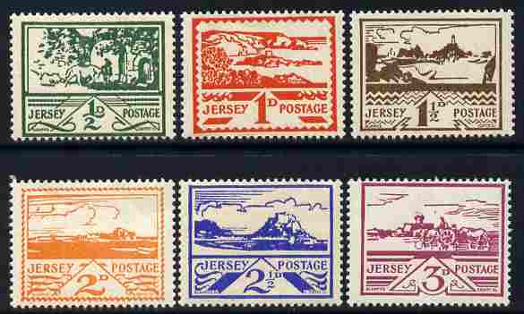 Jersey 1943-44 Occupation set of 6 designed by Blampied unmounted mint, SG 3-8