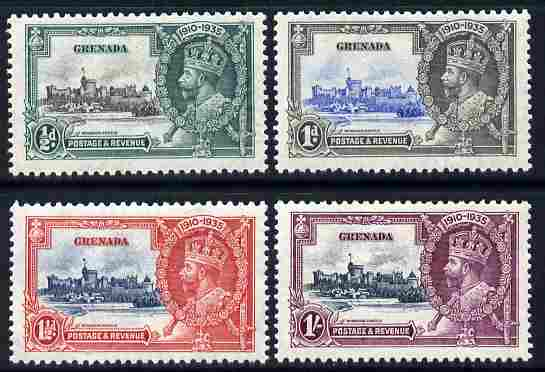 Grenada 1935 KG5 Silver Jubilee set of 4, mounted mint SG 145-8