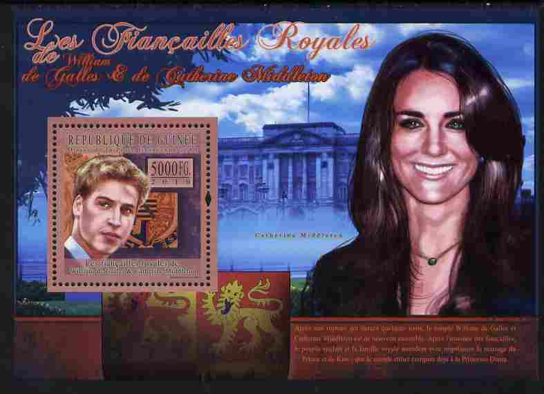 Guinea - Conakry 2010 The Royal Engagement - Prince William & Kate #2 - Buckingham Palace perf deluxe sheet unmounted mint