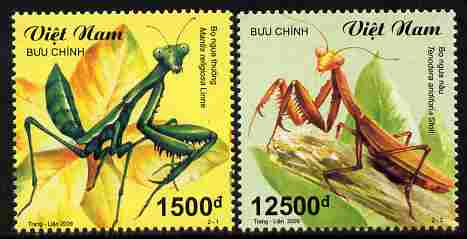 Vietnam 2009 Insects - Mantises perf set of 2 values unmounted mint SG 2795-96