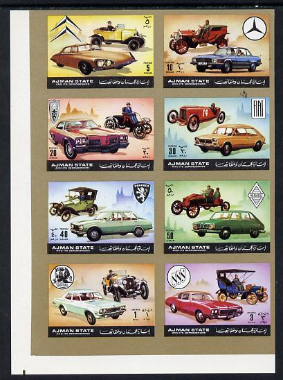 Ajman 1972 Cars imperf set of 8 unmounted mint, Mi 1418-25B