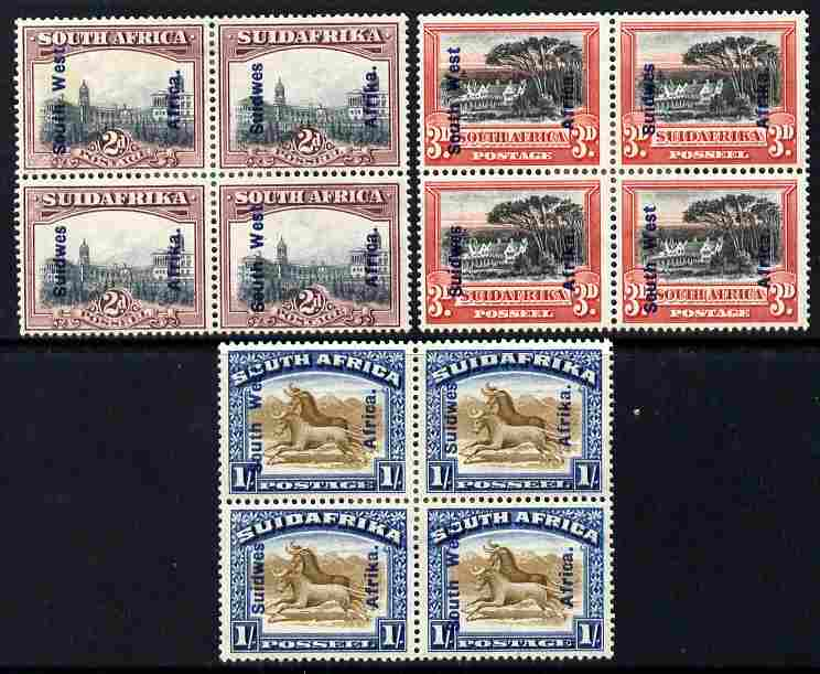 South West Africa 1927 Pictorials 2d, 3d & 1s opt