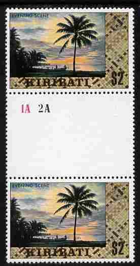 Kiribati 1979 def $2 gutter pair with wmk sideways inverted unmounted mint SG 99aw