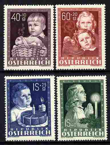 Austria 1949 Child Welfare Fund set of 4 unmounted mint, SG 1162-65