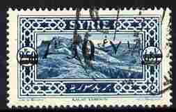 Syria 1926 7p50 on 2p50 light blue, fine used single with