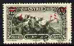 Syria 1928 Surcharged 4p on 0p25 olive (surch in red), fine used single with