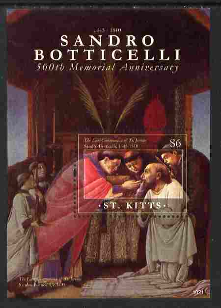 St Kitts 2010 500th Anniversary of Sandro Botticelli perf m/sheet unmounted mint
