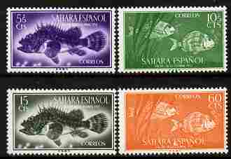 Spanish Sahara 1953 Colonial Stamp Day set of 4 - Fish SG 105-8