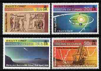 Tristan da Cunha 1986 Halley's Comet set of 4 unmounted mint SG 402-5