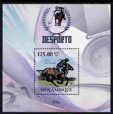 Mozambique 2010 Sport - Polo perf m/sheet unmounted mint, Scott #2031