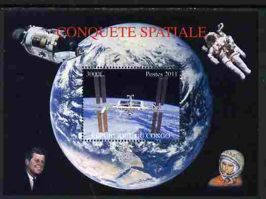 Congo 2011 Conquest of Space #2 perf m/sheet unmounted mint. Note this item is privately produced and is offered purely on its thematic appeal