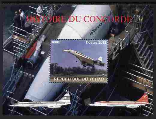 Chad 2011 History of Concorde perf m/sheet unmounted mint. Note this item is privately produced and is offered purely on its thematic appeal