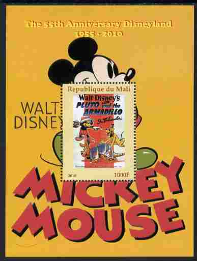 Mali 2011 Mickey Mouse & 55th Anniversary of Disneyland #1 perf m/sheet unmounted mint. Note this item is privately produced and is offered purely on its thematic appeal