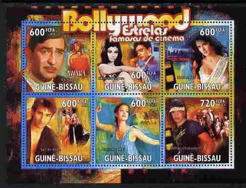 Guinea - Bissau 2010 Bollywood - Indian Cinema perf sheetlet containing 6 values unmounted mint, Michel 5173-76