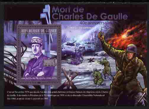Guinea - Conakry 2010 Death Anniversary of Charles De Gaulle #1 perf s/sheet unmounted mint, Michel BL 1859