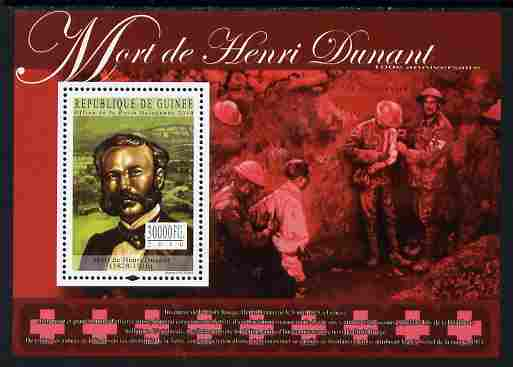 Guinea - Conakry 2010 Death Anniversary of Henry Dunant perf s/sheet unmounted mint, Michel BL 1849