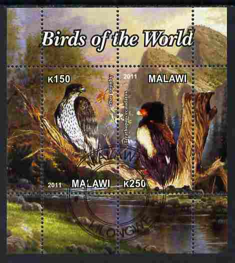 Malawi 2011 Birds of the World #1 perf sheetlet containing 2 values cto used