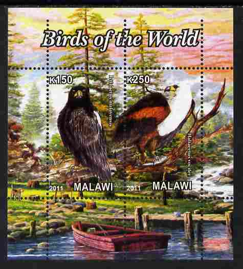 Malawi 2011 Birds of the World #2 perf sheetlet containing 2 values unmounted mint