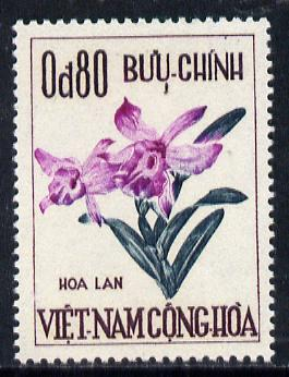 Vietnam - South 1965 Festival 80c (Orchid) unmounted mint SG 242*