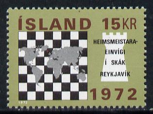 Iceland 1972 World Chess Championship unmounted mint, SG 495*