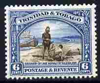 Trinidad & Tobago 1935-37 6c Discovery of Lake Asphalt P13x12.5 unmounted mint SG 233a
