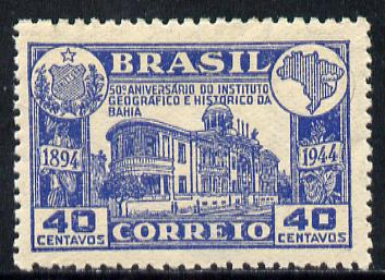 Brazil 1945 Institute of History & Geography unmounted mint but minor wrinkles SG 717*