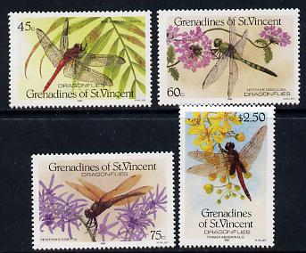 St Vincent - Grenadines 1986 Dragonflies set of 4 unmounted mint (SG 490-3)